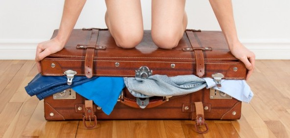 Veel kleding mee in kleine koffer