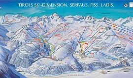 Busreis naar Serfaus in Oostenrijk